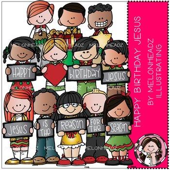 Happy Birthday Jesus clip art - COMBO PACK - by Melonheadz