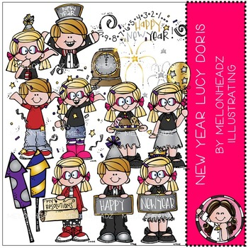 Happy New Year clip art - Lucy Doris - by Melonheadz