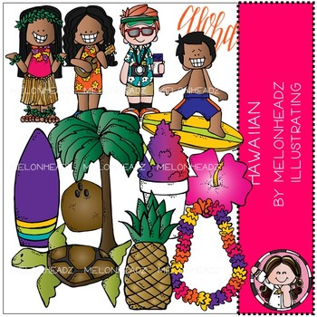 Melonheadz: Hawaiian clip art