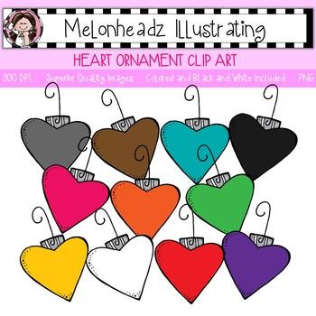 Melonheadz: Heart Ornament clip art - Single Image