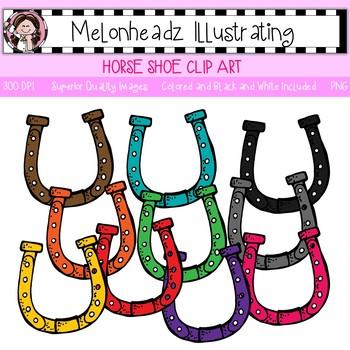 Melonheadz: Horse Shoe clip art - Single image