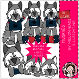 Huskies clip art - Combo Pack - by Melonheadz