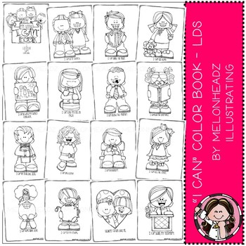 """Melonheadz: """"I Can"""" color book - Printable - LDS"""