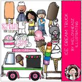 Ice Cream Truck clip art - COMBO PACK - by Melonheadz