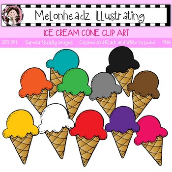 Melonheadz: Ice Cream clip art - Single Image