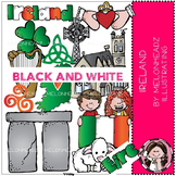 Ireland clip art - BLACK AND WHITE - by Melonheadz