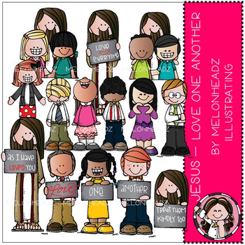 Jesus clip art - Love One Another - COMBO PACK - by Melonheadz