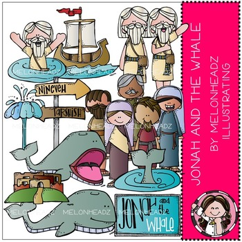 Jonah and the Whale clip art - Bible - by Melonheadz