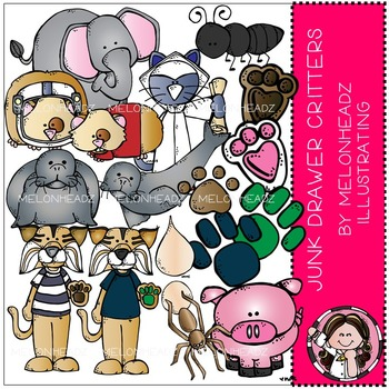 Junk Drawer clip art - critters / animals - COMBO PACK - by Melonheadz