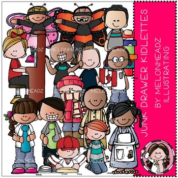 Junk Drawer clip art - kidlettes - COMBO PACK - by Melonheadz