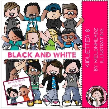 Melonheadz: Kidlettes 8 BLACK AND WHITE