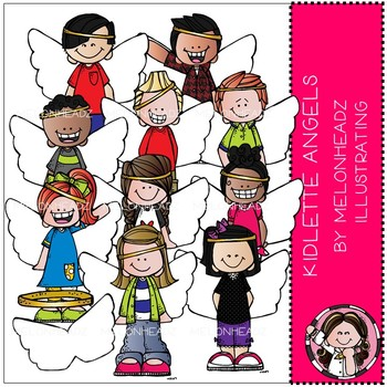 Melonheadz: Kidlettes Angels clip art - COMBO PACK