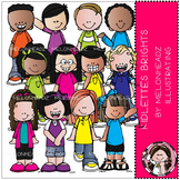 Kidlettes clip art - Brights - COMBO PACK - by Melonheadz