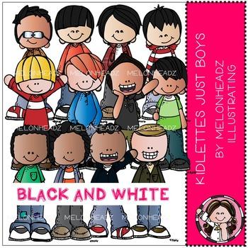 Melonheadz: Kidlettes Just Boys BLACK AND WHITE