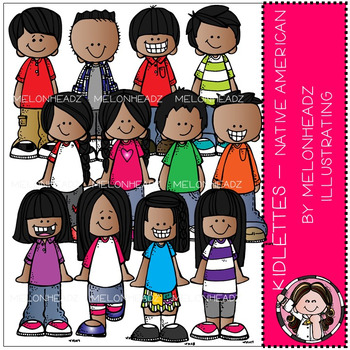 Kidlettes clip art - Native American - COMBO PACK - by Melonheadz