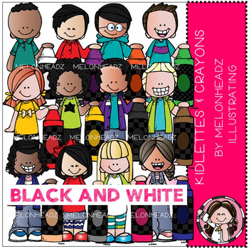 Melonheadz: Kidlettes and Crayons BLACK AND WHITE