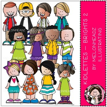 Kidlettes clip  art - Brights - Part 2 - COMBO PACK - by Melonheadz