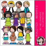 Melonheadz: Kidlettes clip  art - Brights - Part 2 - COMBO PACK