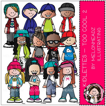 Melonheadz: Kidlettes clip art - Too Cool 2 - COMBO PACK
