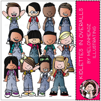 Kidlettes in Overalls clip art - by Melonheadz