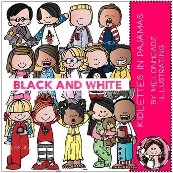 Melonheadz: Kidlettes in pajamas BLACK AND WHITE
