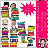 Kidlettes with Books clip art - Mini - by Melonheadz