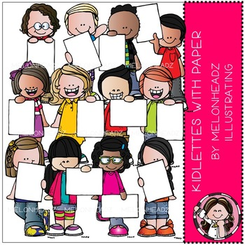 Kidlettes with Paper clip art  - Combo Pack - by Melonheadz