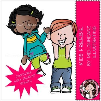 Melonheadz: Kids Starter clip art - FREEBIE