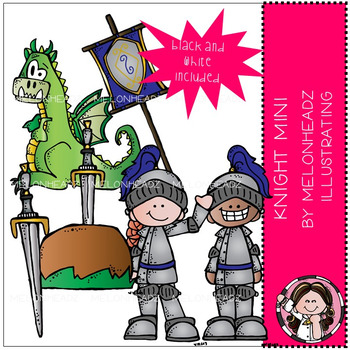 Melonheadz: Knight clip art Mini Set