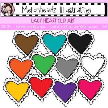 Melonheadz: Lacy Heart clip art - Single Image