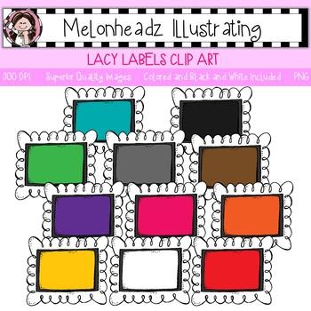Melonheadz: Lacy Label clip art - Single Image