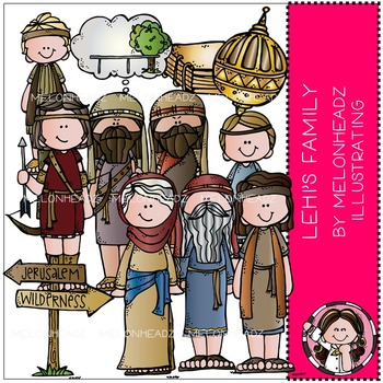 Lehi's Family clip art - LDS - COMBO PACK - by Melonheadz