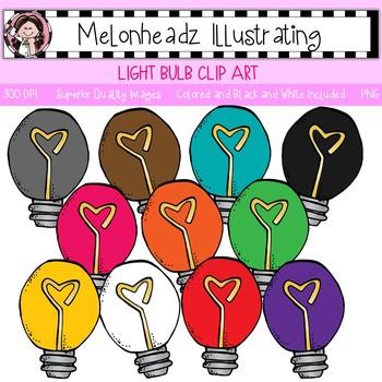 Melonheadz: Light Bulb blip art - Single Image