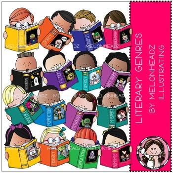 Melonheadz: Literary Genres clip art - Combo Pack