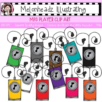 Melonheadz: MP3 player clip art - Single Image
