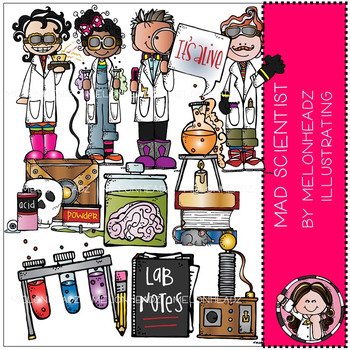 Mad Scientist clip art - Combo Pack - by Melonheadz