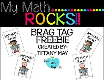 My Math ROCKS Brag Tag
