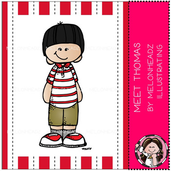 Meet Thomas clip art - Freebie - by Melonheadz