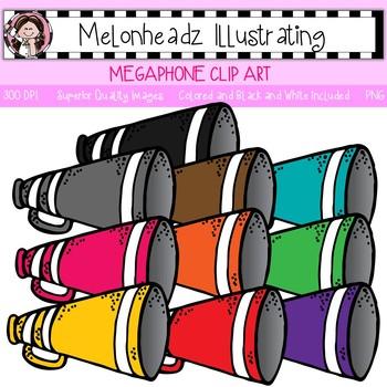 Melonheadz: Megaphone clip art - Single Image