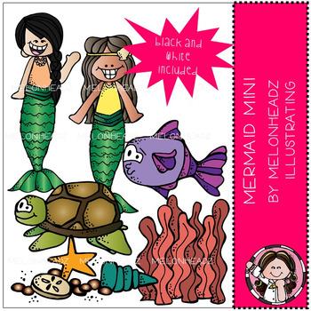 Melonheadz: Mermaid clip art Mini Set