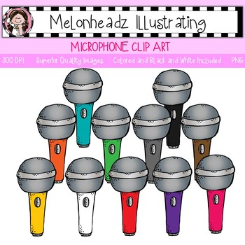 Microphone clip art - Single Image - by Melonheadz