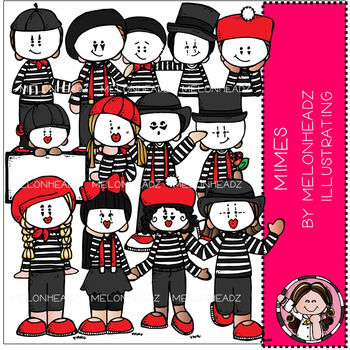 Mimes clip art - COMBO PACK - by Melonheadz