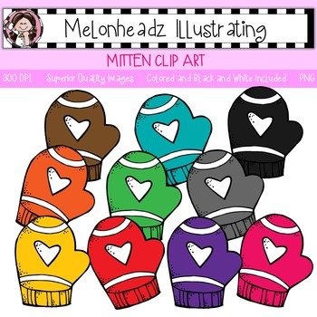 Melonheadz: Mitten clip art - Single Image