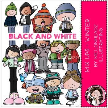 Melonheadz: Mix Ups Winter BLACK AND WHITE