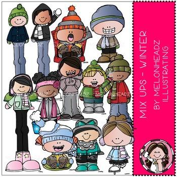 Winter clip art - Mix Ups - COMBO PACK - by Melonheadz