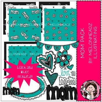 Mom Pack clip art / digital paper - by Melonheadz