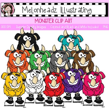 Melonheadz: Monster clip art - Single Image