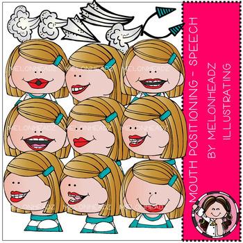 Melonheadz: Mouth Positioning - Speech clip art - COMBO PACK