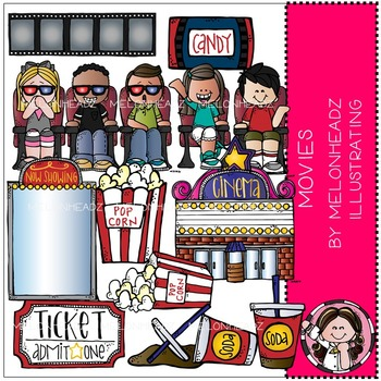 Movies clip art - COMBO PACK - by Melonheadz