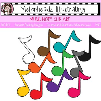 Music Note clip art - Single Image - by Melonheadz